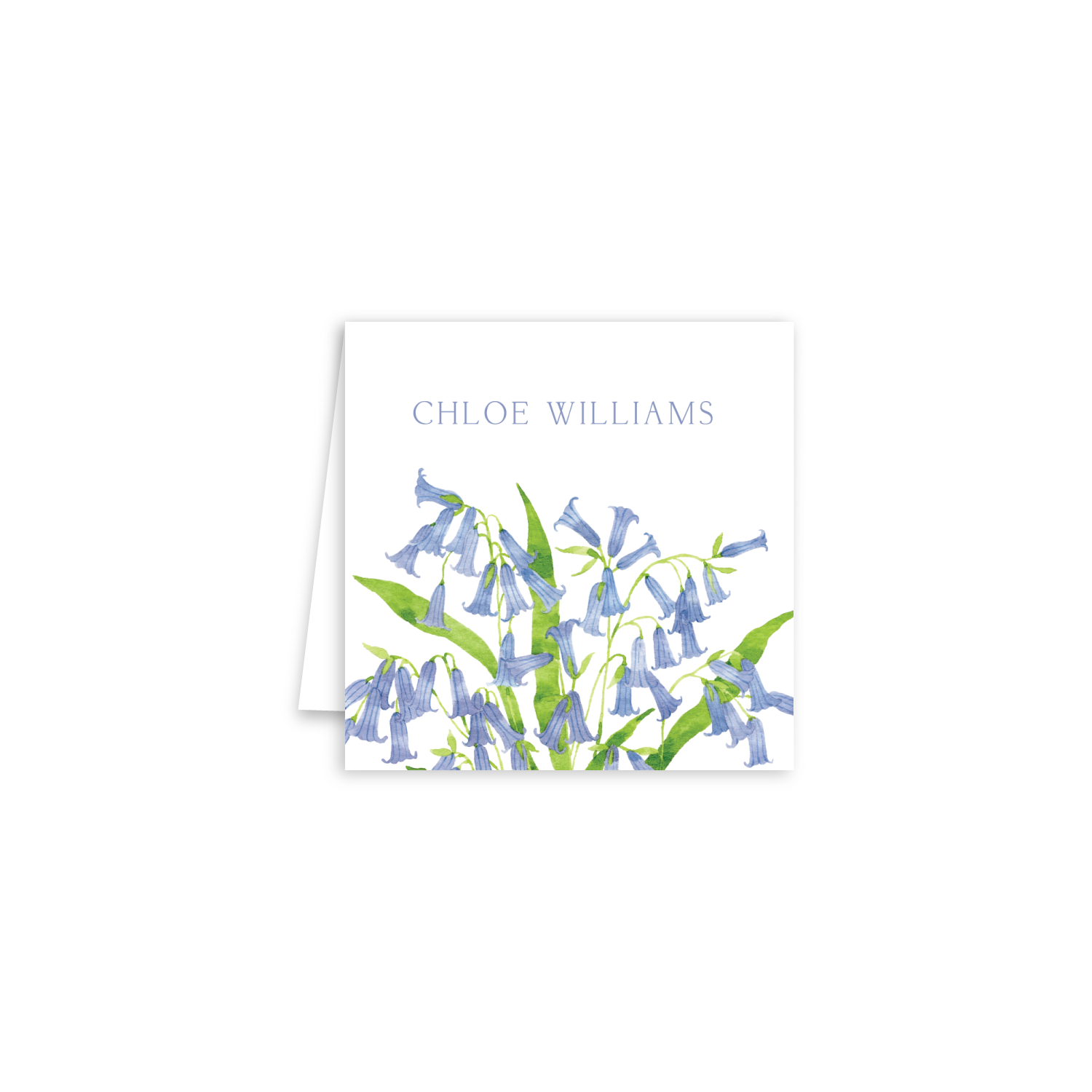 Blue Bells Enclosure Cards | Botanical Bouquets
