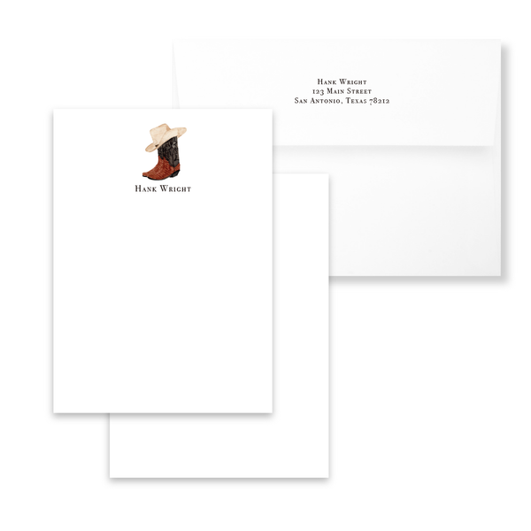 Cowboy Boots Notecards | Men's Stationery