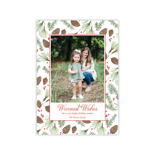 Christmas Pine | Holiday Photo Card