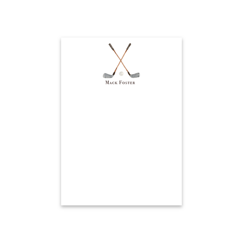 Crossed Golf Clubs Notecards | Men's Stationery