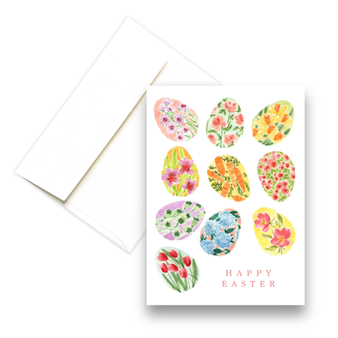 Floral Easter Eggs | Easter Greeting Card