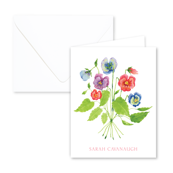 Pansies Notecards | Botanical Bouquets