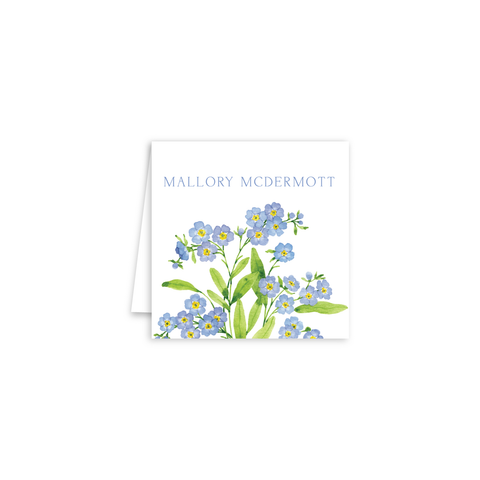 Forget Me Nots Enclosure Cards | Botanical Bouquets