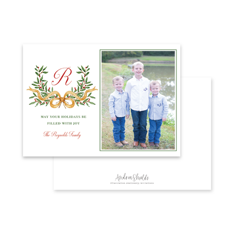 French Crest Landscape | Holiday Photo Card