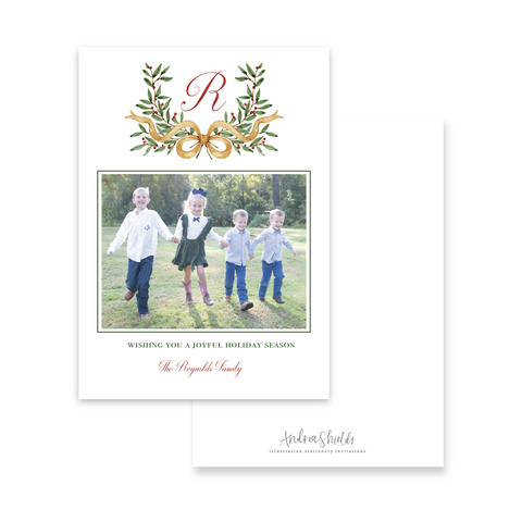 French Crest | Holiday Photo Card