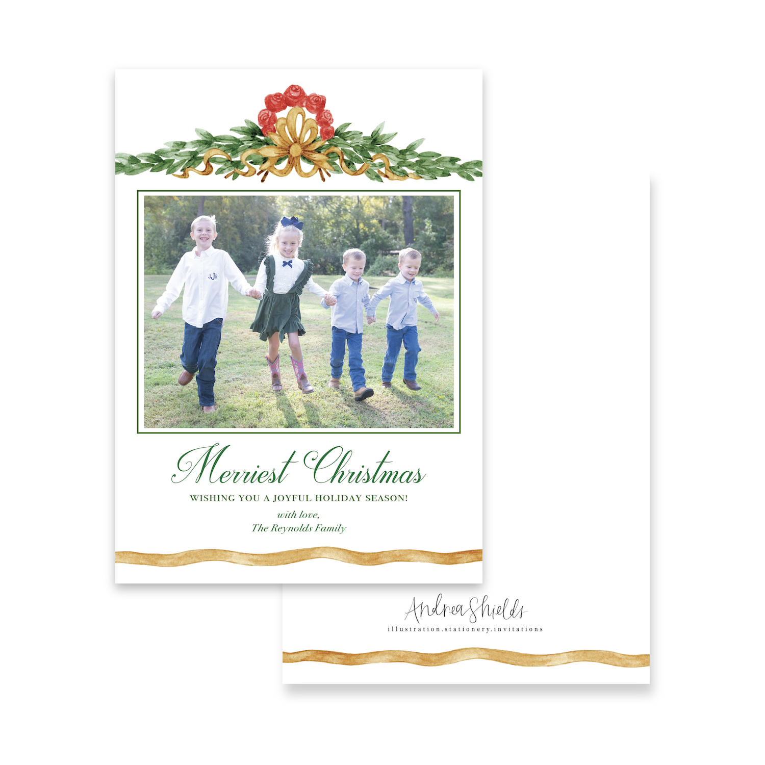 French Topper | Holiday Photo Card