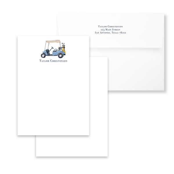 Golf Cart Notecards | Men's Stationery