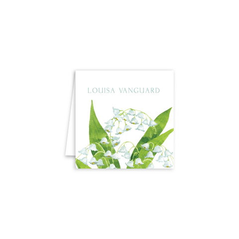 Lily of the Valley Enclosure Cards | Botanical Bouquets