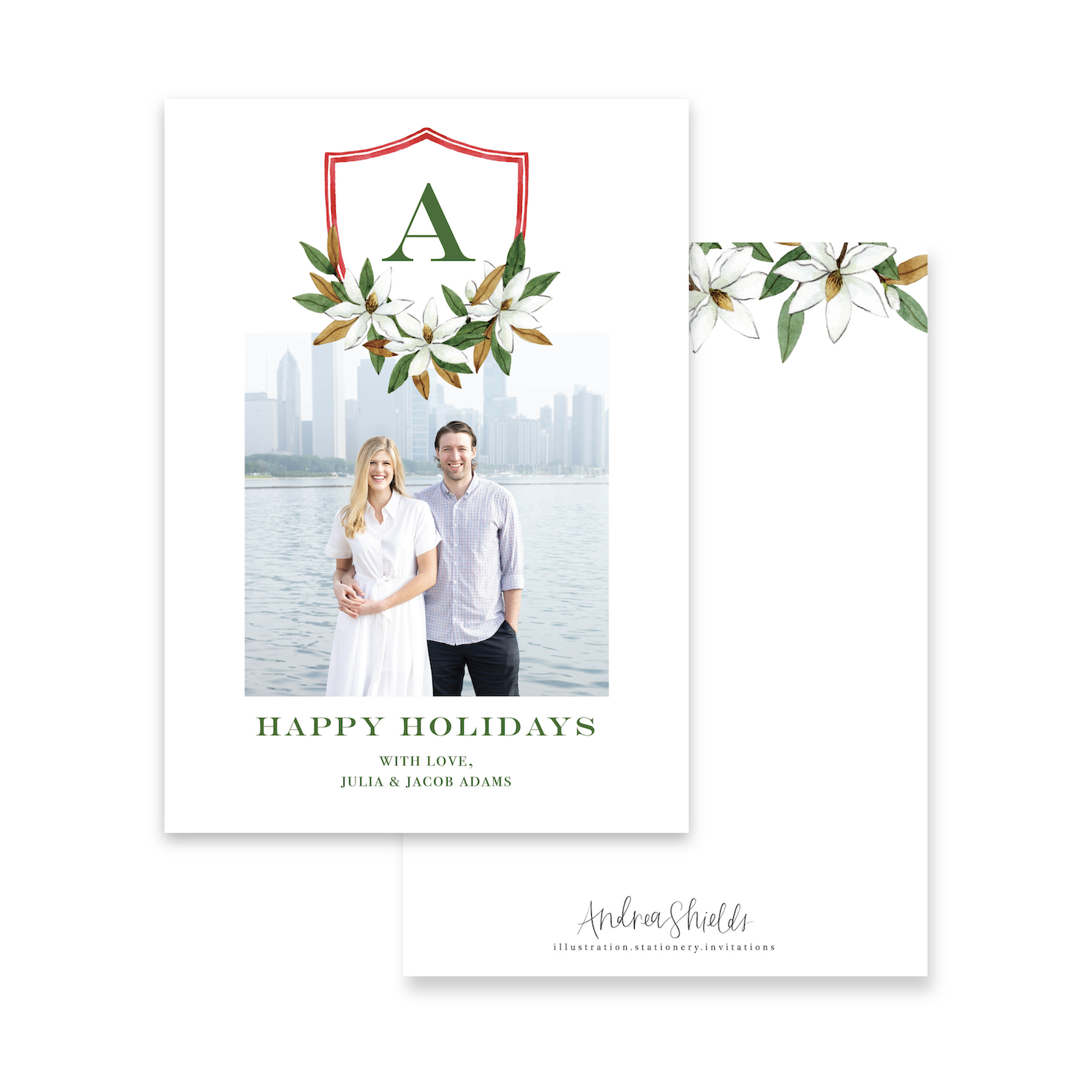 Magnolia Crest | Holiday Photo Card