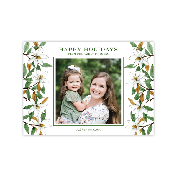 Magnolias Lanscape | Holiday Photo Card