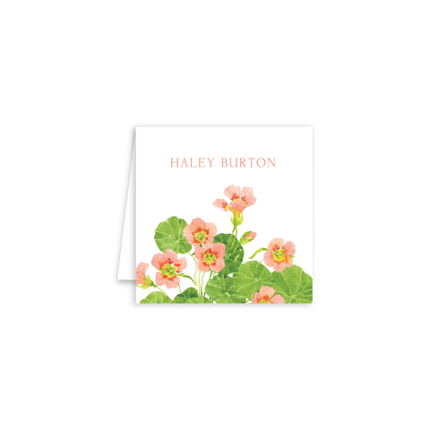 Nasturtium Enclosure Cards | Botanical Bouquets