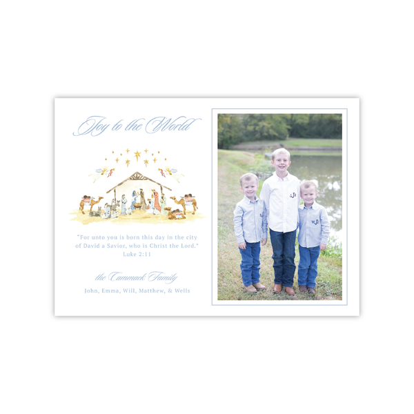 Nativity Landscape | Holiday Photo Card