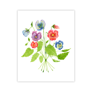 Pansies Print | Botanical Bouquets