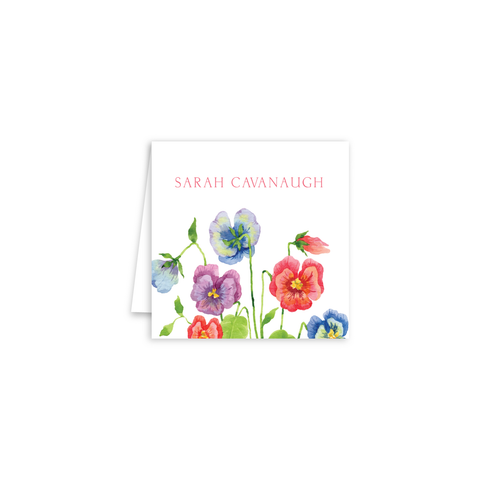 Pansies Enclosure Cards | Botanical Bouquets