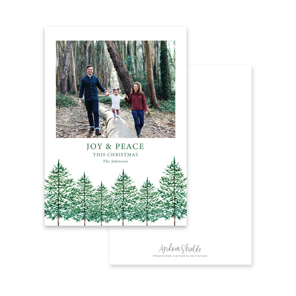 Pine Forest | Holiday Photo Card