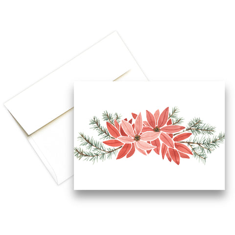Poinsettias | Christmas Greeting Card