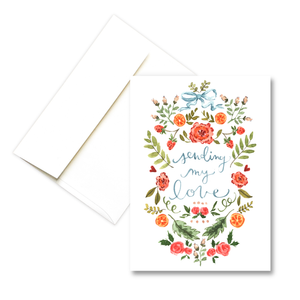 Sending My Love | Love Greeting Card