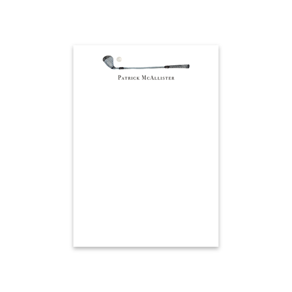 Golf Club Notecards | Men's Stationery