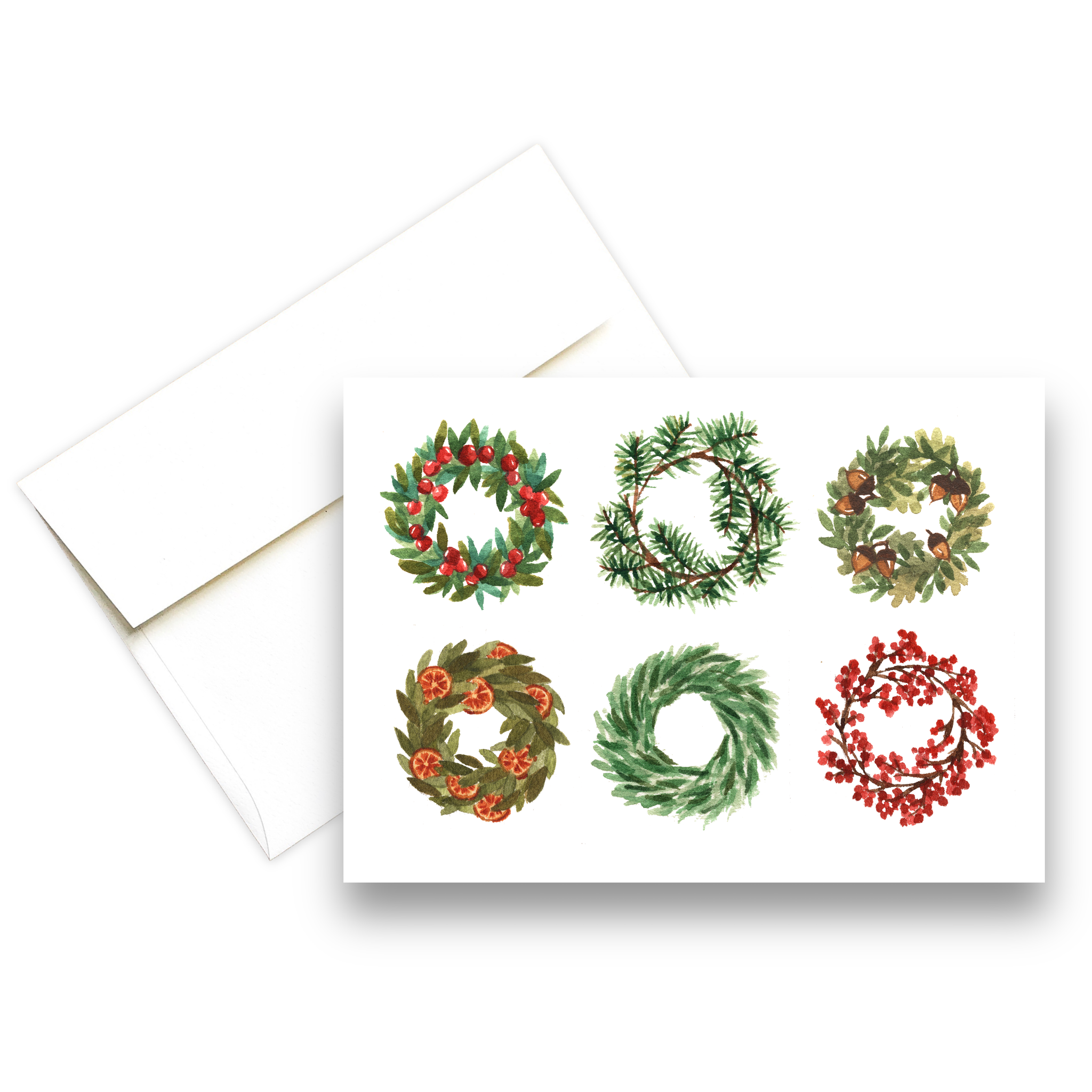 Six Wreaths | Christmas Greeting Card