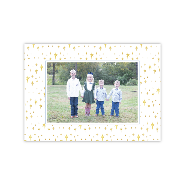 Starry Night Border Landscape | Holiday Photo Card