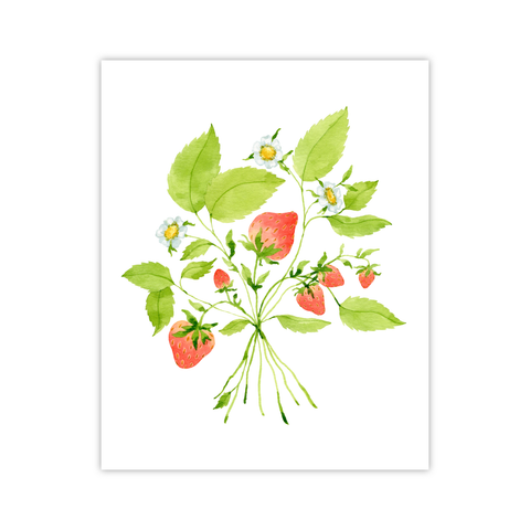 Strawberries Print | Botanical Bouquets