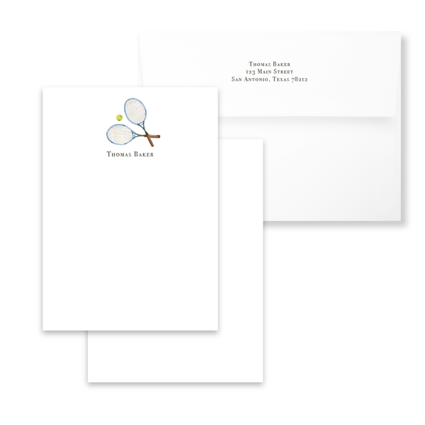 Tennis Racquets Notecards | Men's Stationery