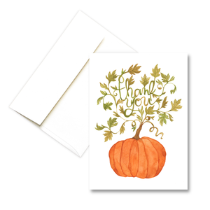Thank You Pumpkin | Fall Greeting Card
