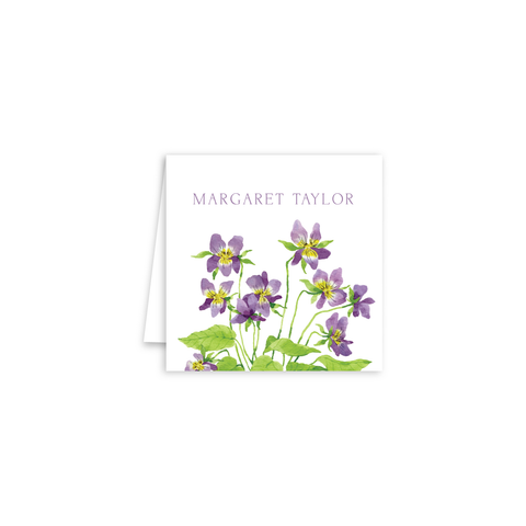 Violets Enclosure Cards | Botanical Bouquets