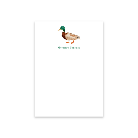 Mallard Notecards | Men's Stationery