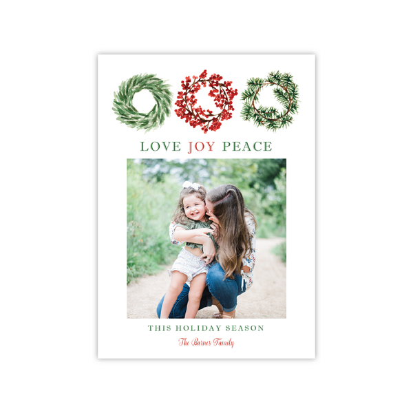 Wreaths | Holiday Photo Card