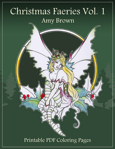 Coloring Book - Digital Download - Christmas Faeries Vol 1