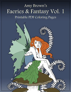 Coloring Book - Digital Download - Faeries & Fantasy Vol 1