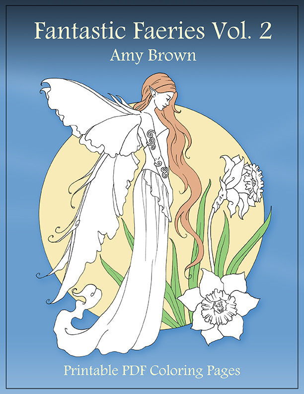 Coloring Book - Digital Download - Fantastic Faeries Vol 2