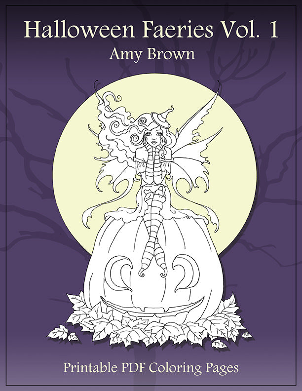 Coloring Book - Digital Download - Halloween Faeries