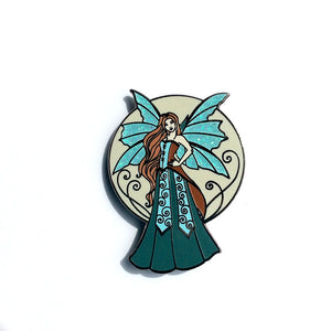 Collectible Pin - Aquamarine Fairy