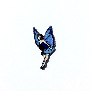 Collectible Pin - Blue Flying Fairy