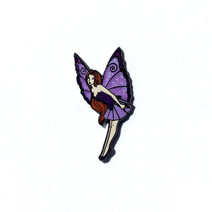 Collectible Pin - Purple Flying Fairy