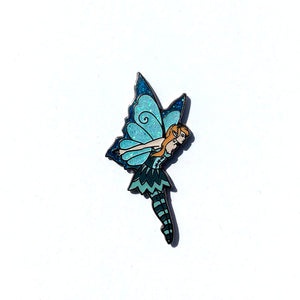 Collectible Pin - Teal Flying Fairy