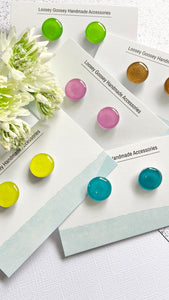 Small Cardstock Resin Studs - Block Colours