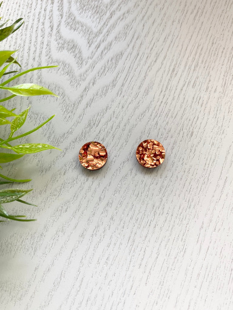 Copper Chunky Glitter - Circles