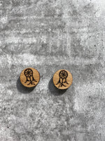 Load image into Gallery viewer, Bamboo Dream Catcher Earring Studs