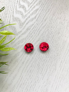 Red Chunky Glitter - Circles