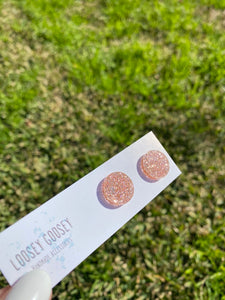 Rose Gold Premium Glitter - Circles