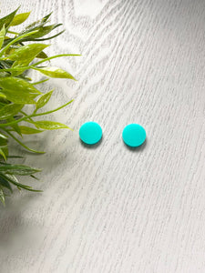 Acrylic Aqua Circles 15mm