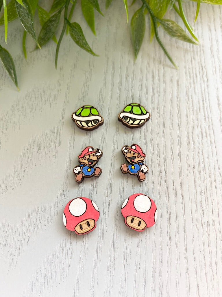 Bamboo Mario Collection- Hand Painted