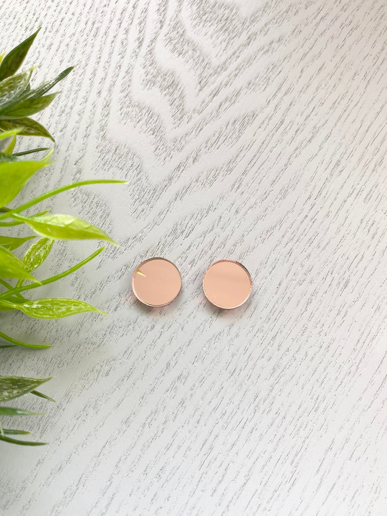 Rose Gold Mirror - Circles
