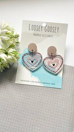 Load image into Gallery viewer, Leopard Print Heart Dangle - Multiple Colours