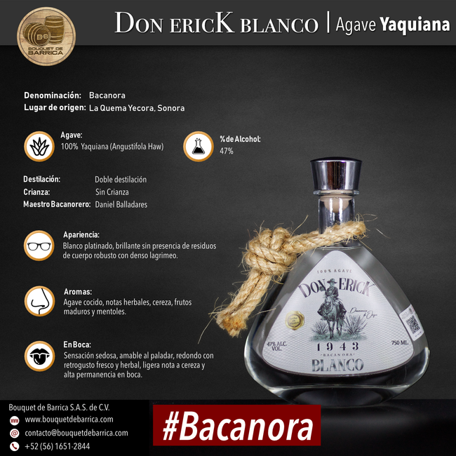 Bacanora Don Erick Blanco Elite