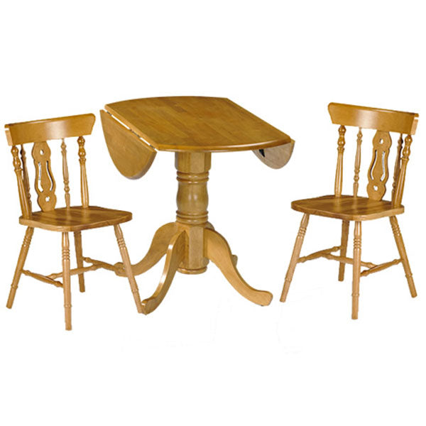 Dundee Dropleaf Table And 2 Yorkshire Fidleback Chair Set