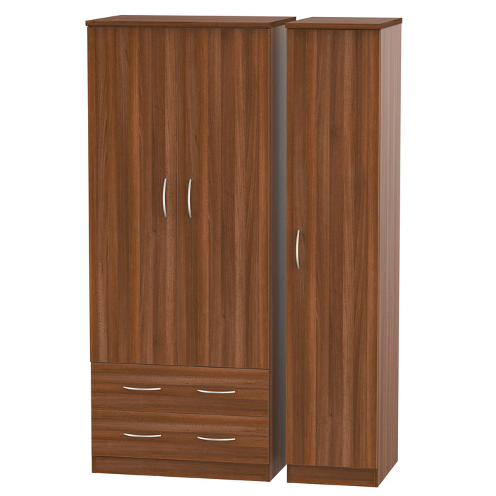 Avon 3 Door 2 Left Drawer Wardrobe